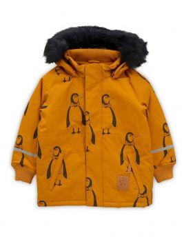 Mini Rodini Penguin Parka brown
