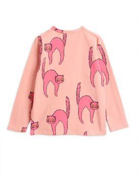 Mini Rodini Catz ls tee pink