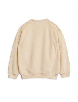 Mini Rodini Stay Weird terry sweatshirt off-white