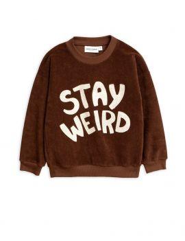 Mini Rodini Stay Weird terry sweatshirt brown