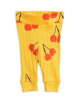 Mini Rodini Cherry Baby Legging yellow