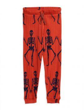 Mini Rodini Skeleton broekje rood