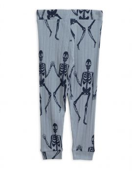 Mini Rodini Skeleton broekje blauw