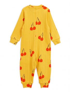 Mini Rodini Cherry jumpsuit yellow