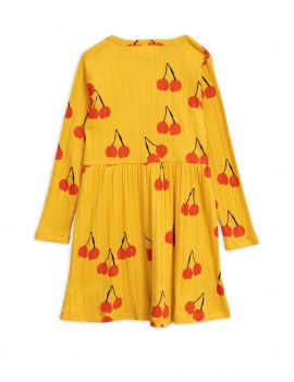 Mini Rodini Cherry ls dress yellow