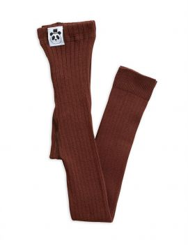 Mini Rodini Ribbed legging brown