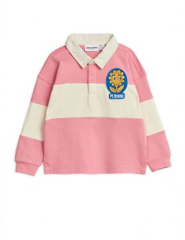 Mini Rodini Rugby Shirt Pink