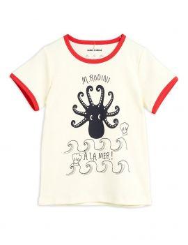 Mini Rodini Octopus SS Tee Red