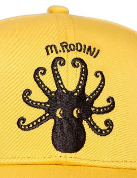 Mini Rodini Octopus Yellow Cap