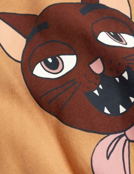 Mini Rodini Cat Choir sp Sweatshirt Beige