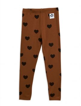 Mini Rodini Hearts Leggings Tencel Brown