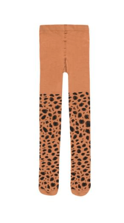 Tiny Cottons Animal Pattern Tights brown/dark brown