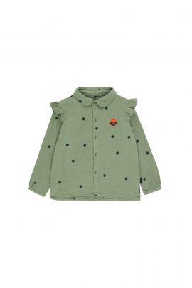 Tiny Cottons Dots Sunset Shirt green wood/bottle green