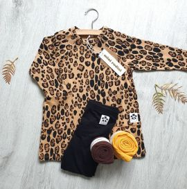 Mini Rodini Basic Leopard ls dress