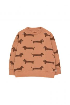 Tiny Cottons Il Bassotto Sweatshirt tan/dark brown