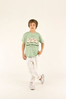 Tiny Cottons Dolce Far Niente Tee pistacchio/light nude