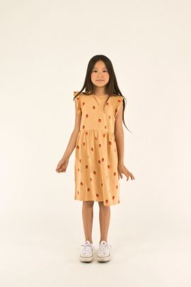 Tiny Cottons Strawberries Dress toffee/red