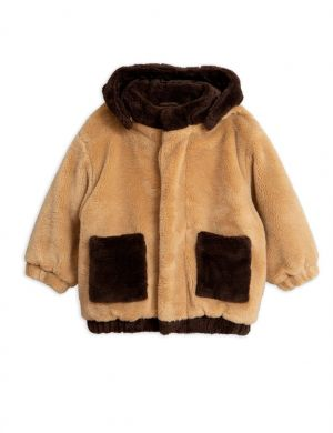 Mini Rodini Faux Fur Hooded Jacket