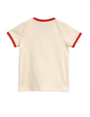 Mini Rodini Scorpio binding tee off-white