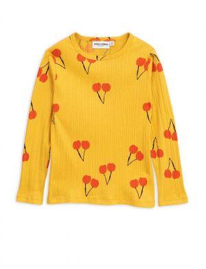 Mini Rodini Cherry ls tee yellow