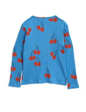 Mini Rodini Cherry ls tee blue