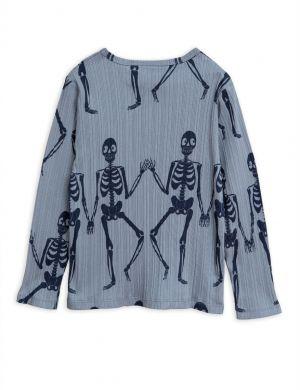 Mini Rodini Skeleton LS Tee Blue