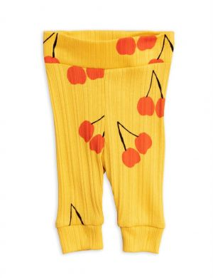 Mini Rodini Cherry Baby Legging yellow