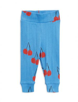 Mini Rodini Cherry Baby legging blue