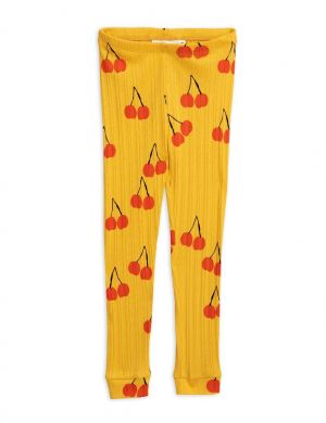 Mini Rodini Cherry Legging Yellow