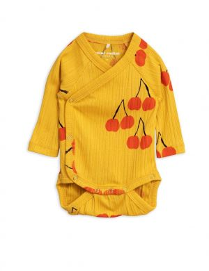 Mini Rodini Cherry wrap body yellow