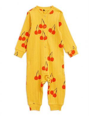 Mini Rodini Cherry jumpsuit yellow