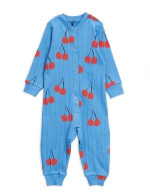 Mini Rodini Cherry Jumpsuit blue