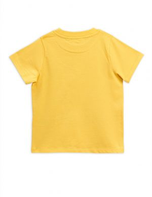 Mini Rodini Blah Blah ss tee yellow