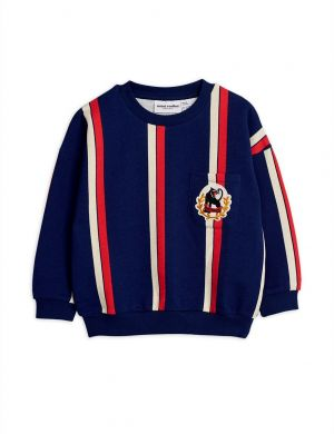 Mini Rodini Stripe Sweatshirt Blue