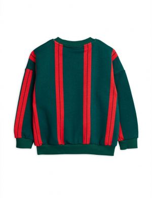 Mini Rodini Stripe Sweatshirt Green