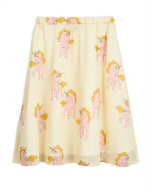 Mini Rodini Unicorns Woven Long Skirt