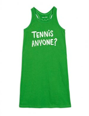 Mini Rodini Tennis anyone tank dress green