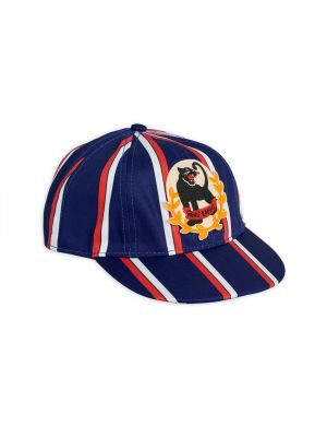 Mini Rodini Badge Cap Panther Blue
