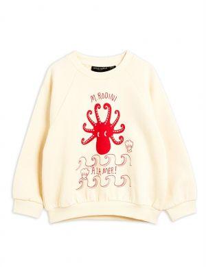 Mini Rodini Octopus Sweatshirt Offwhite