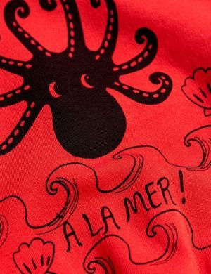 Mini Rodini Octopus Sweatshirt Red