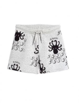 Mini Rodini Octopus Sweatshorts Grey Melange