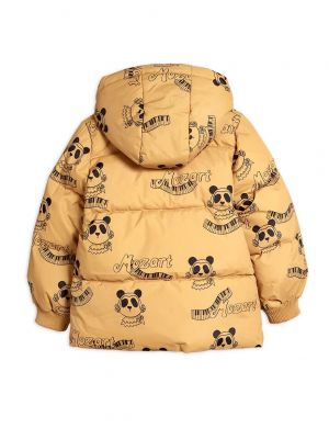 Mini Rodini Mozart Panda Puffer Jacket Beige
