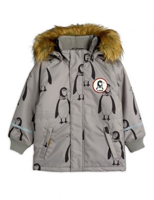 Mini Rodini K2 Penguin Parka Grey
