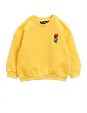 Mini Rodini Viola emb Sweatshirt Yellow