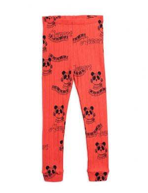 Mini Rodini Mozart aop Leggings Red