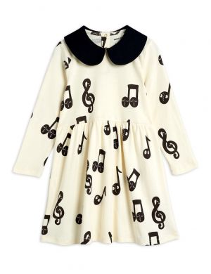 Mini Rodini Notes Aop LS Dress