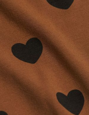 Mini Rodini Hearts LS Dress Tencel Brown