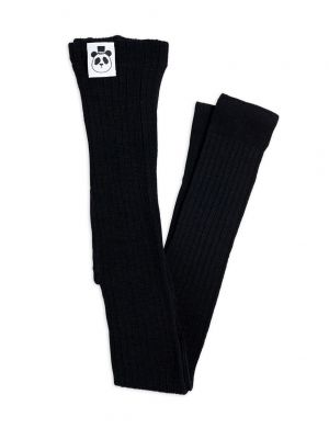 Mini Rodini Ribbed Legging Black