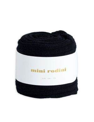 Mini Rodini Ribbed Legging Black