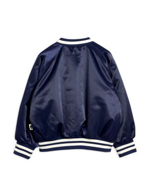 Mini Rodini Bulldog Baseball Jacket Navy